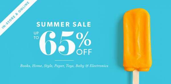 Indigo Chapters 夏日特卖再减价,精选大量玩具、生活用品、书籍、数码产品、装饰品、婴儿用品等2.5折起!选择店内取货额外9折!