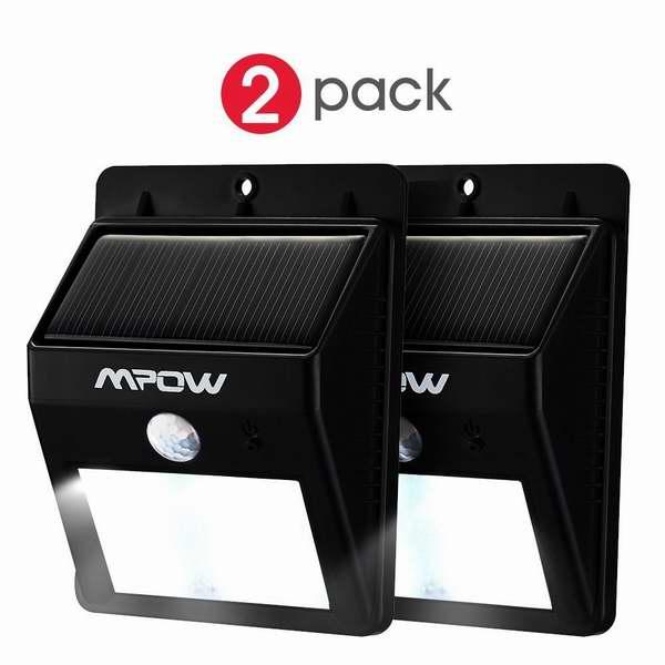 Mpow 8 LED 太阳能防水运动感应灯两件套4.8折 27.19元限量特卖并包邮!