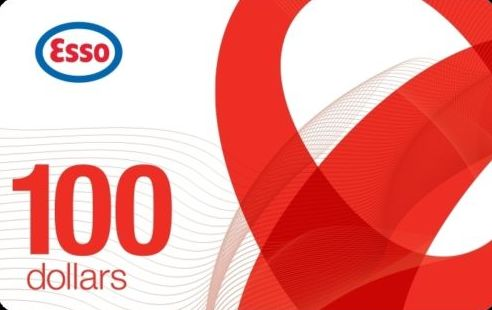 加油卡限时促销!Ebay.ca网店促销, 买 Esso加油卡100元立减20元!