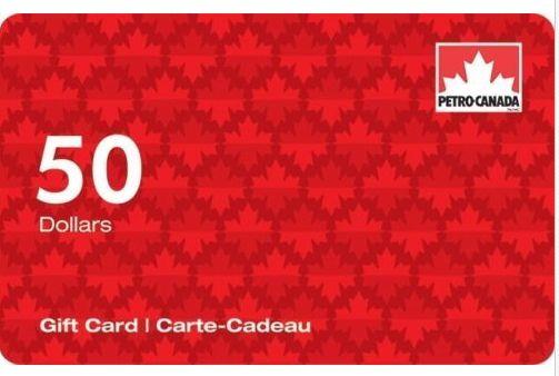 加油卡限时促销!买 2张 Petro-Canada加油卡100元立减20元!