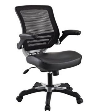 LexMod 黑色人造革办公椅 99.99元限量特卖,原价 349.6元,