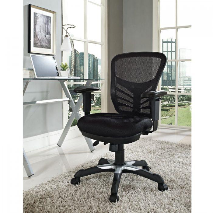 LexMod 黑色网状办公椅 114.99元限量特卖,原价 355元,