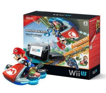 eBay金牌卖家促销,Nintendo任天堂 Wii U 32GB版 超级马里奥赛车8套装  299元特卖,原价 329.99元,包邮
