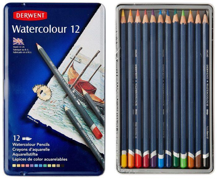 Derwent 得韵12色水彩色铅笔(32881)  特价 17.67元,原价 27.32元