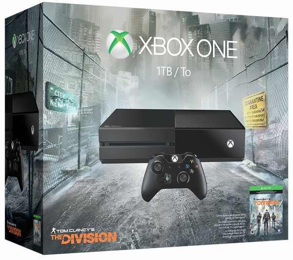 Xbox One 1TB 家庭娱乐游戏机+《汤姆克兰西:全境封锁》套装369.99元,原价 449元,包邮