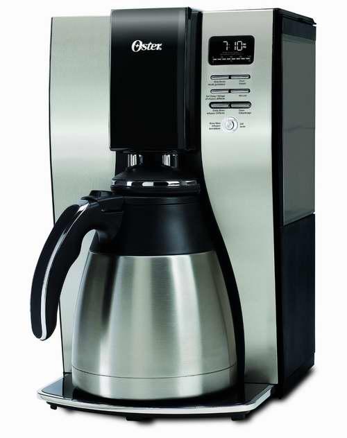 Oster 奥仕达 10杯份不锈钢保温智能咖啡机5折 54.99元限时特卖并包邮!