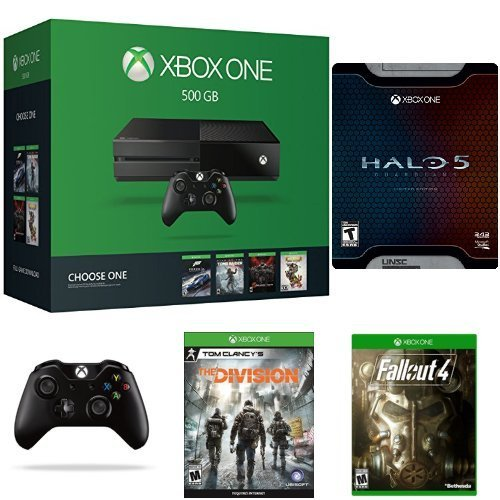 Xbox One 500GB Name Your Game家庭娱乐游戏机+无线手柄+《光环5守护者》+《辐射4》+《汤姆克兰西:全境封锁》套装4.8折 349.99元限时特卖并包邮!