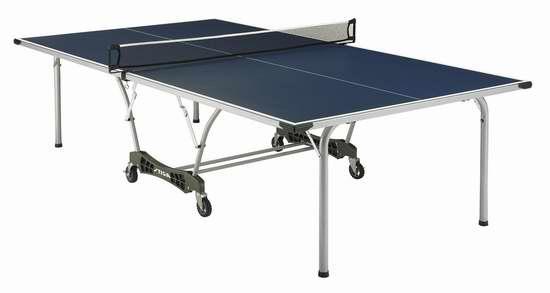 售价大降!历史新低!Stiga T8561 Coronado 折叠式室内/室外全天候乒乓球桌5.9折 532.37元限时清仓并包邮!