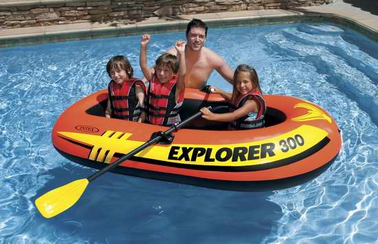 Intex Explorer 300 三人充气船4.7折 29.83加元!