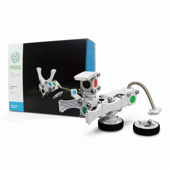 历史新低!Modular Robotics Moss Zombonitron 1600 磁力机器人套件1.8折 47.4加元限时清仓并包邮!