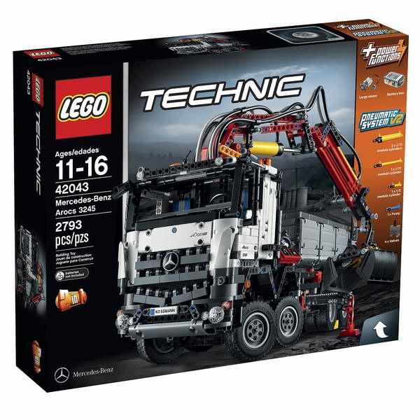 LEGO 乐高 Technic 42043 科技系旗舰 梅赛德斯 奔驰卡车(2793pcs)6.3折 168.88加元包邮!