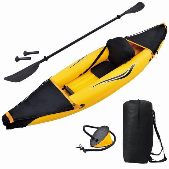 Blue Wave Sports Nomad 单人充气独木舟套装7.3折 274.99元限时特卖并包邮!
