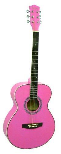 Main Street Guitars MAS40PNK 粉红色40英寸全尺寸原声吉他2.6折 43.3元限时清仓并包邮!