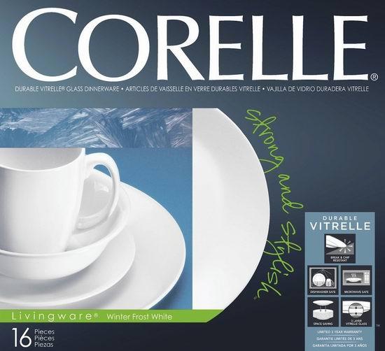 Corelle 康宁白色16件餐具套装 34.86元特卖,原价 51.1元,包邮