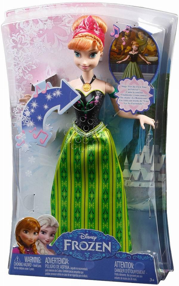 历史最低价!Mattel Disney 冰雪奇缘会唱歌的安娜玩偶3.4折 8.56元限时特卖!