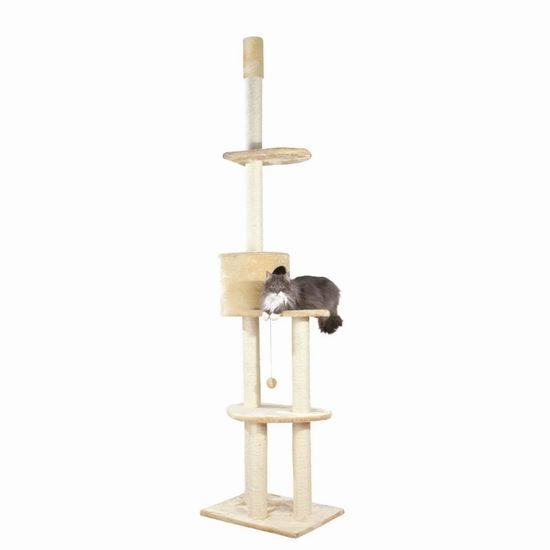 历史新低!Trixie Pet Products Santiago 2.79米可调节超高猫树/猫爬架4.8折 88.56加元限时特卖并包邮!