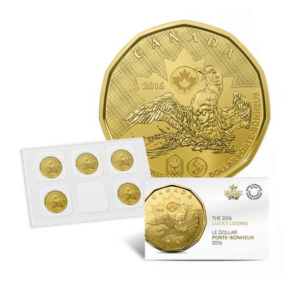 皇家铸币厂面值5元5枚幸运 LOONIE 1元奥运纪念币5件套5元特卖!价值25元纯银北极熊纪念币仅售25元并包邮!