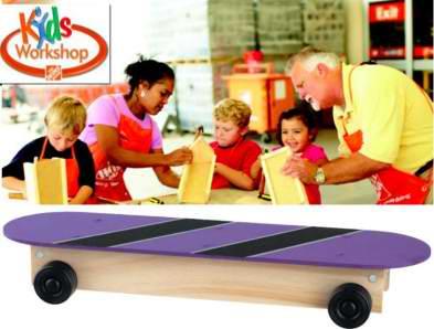Home Depot 8月13日免费儿童手工课,制作滑板铅笔盒,8月另有3个家庭装修免费课程