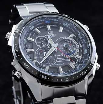 光动能、五马达、三眼七针!Casio 卡西欧 EQS500DB-1A1 多功能不锈钢腕表3折 97.5元限时特卖并包邮!