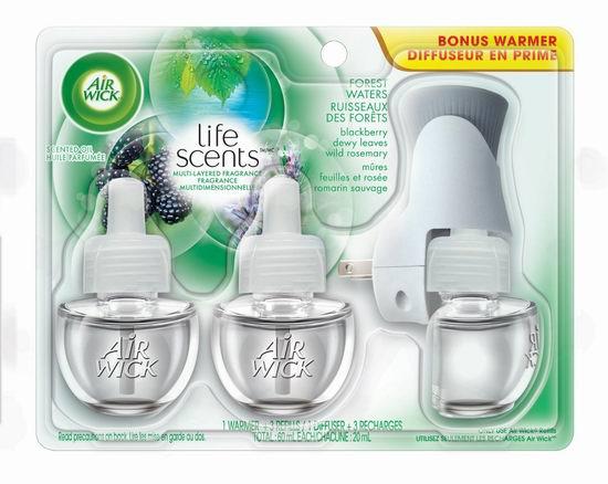 AirWick Air Freshener 电热森林露水香型空气清新套装6.8折 10.97元限时特卖!