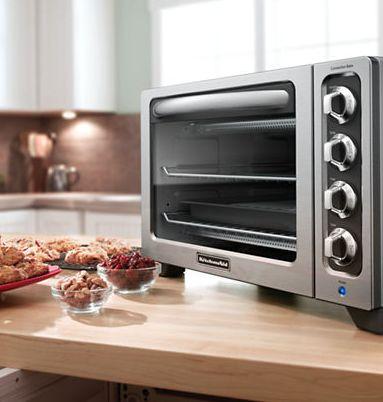KitchenAid 12英寸对流烘焙台面烤箱5折 124.99元限时特卖并包邮!