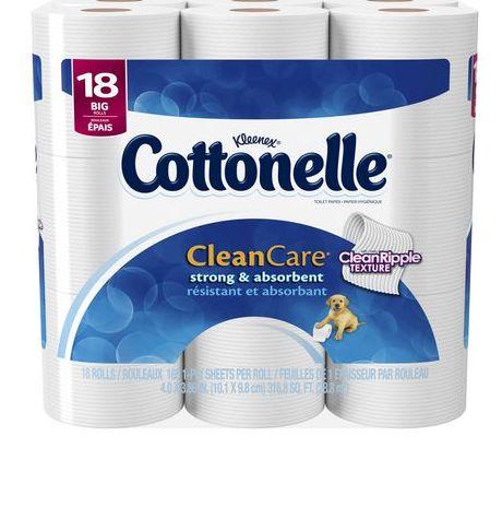 Cottonelle 18卷超软卫生纸 9.99元特卖,原价 13.28元