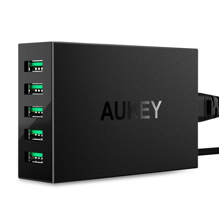 第二代 Aukey 50W/10A 5口智能快速充电器 24.99加元限量特卖!