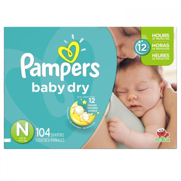 Pampers 帮宝适婴儿纸尿裤 Size-N  104片装 22.97元特卖,原价 29.99元