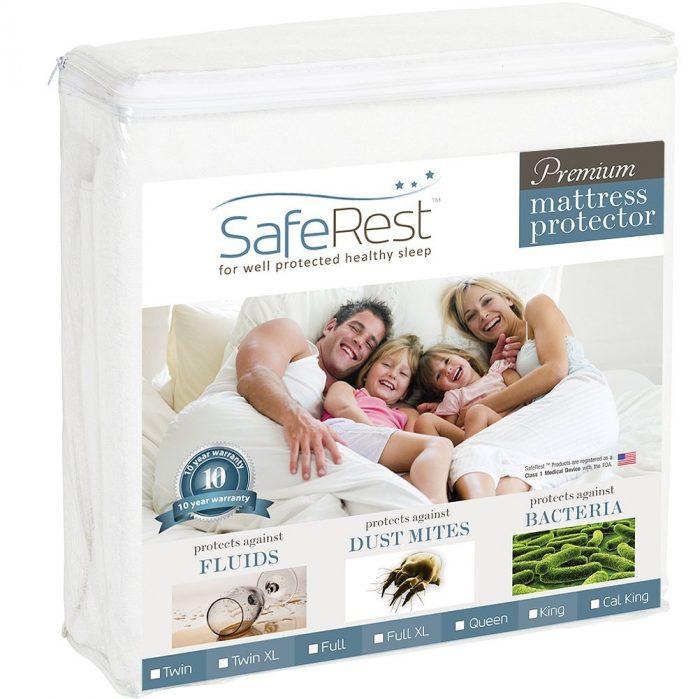 SafeRest Queen Size 防水防过敏高级床垫保护套 39.95元特卖,原价119.98元,包邮