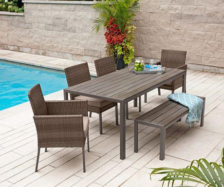 Hometrends Sedgwick 庭院餐桌椅 6件套 298元特卖,原价 596元,运费 39元