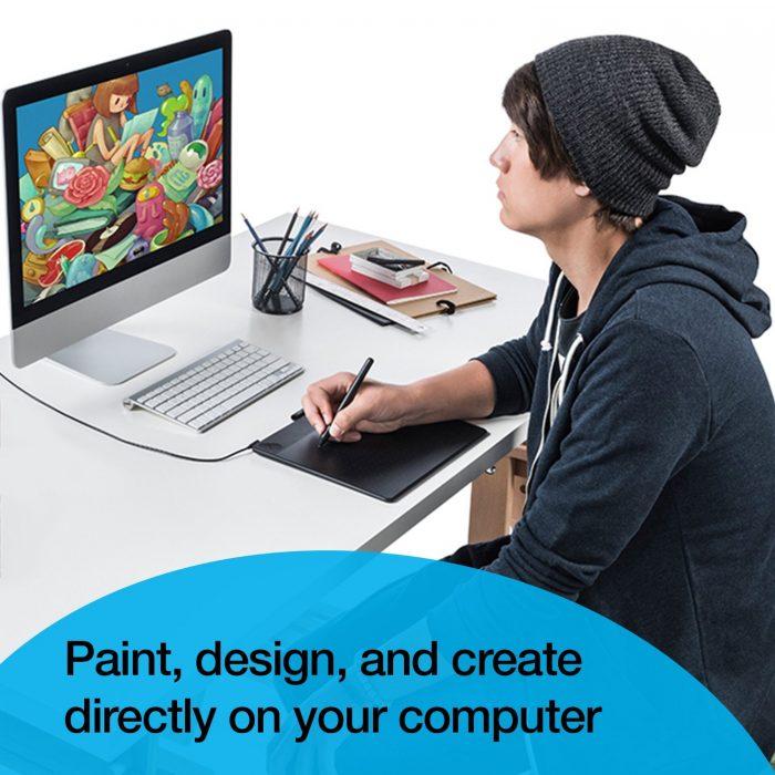 电子绘画必备!Wacom CTH490AK 无线数位板/手写板/电子绘图板 104.11元特卖,原价 139.95元,包邮