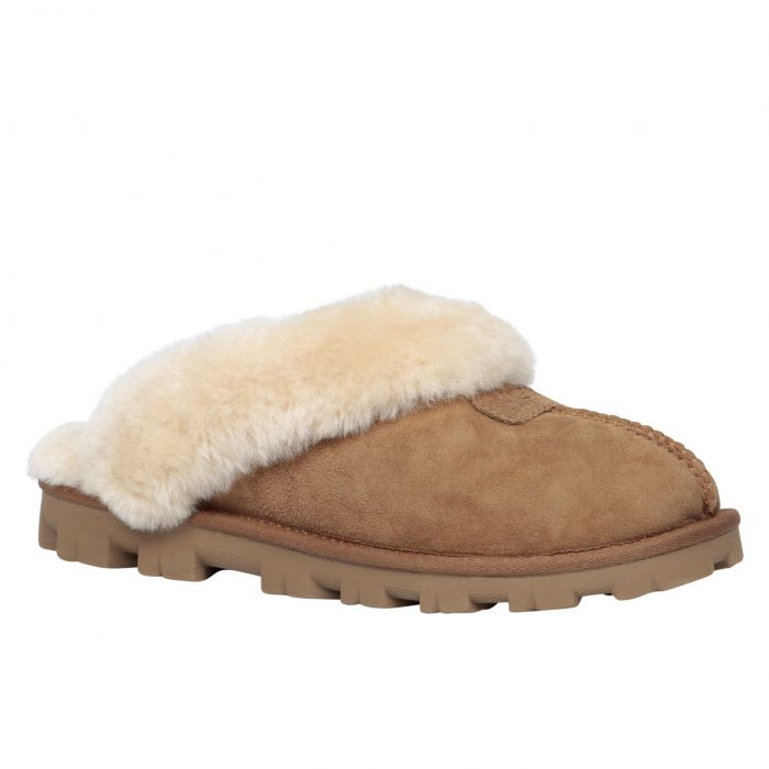 UGG COQUETTE羊毛内衬拖鞋 73.49元特卖(6.5码),原价 150元