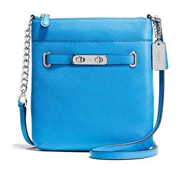 Coach Swagger系列女士时尚真皮单肩包 126.56元特卖(2色可选),原价 225元,包邮