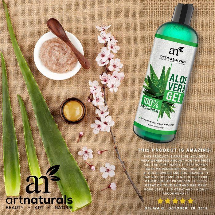 ArtNaturals 100%纯天然有机芦荟胶 14.4元特卖,原价 39.95元