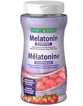 改善睡眠,Nature's Bounty 自然之宝草莓味褪黑素60粒 6.99加元,原价 9.27加元