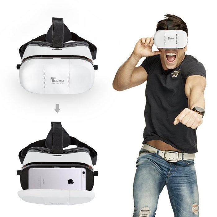 手机秒变3D影院,Telmu 3D VR 虚拟现实眼镜 19.99元限量特卖,原价 33.99元,包邮
