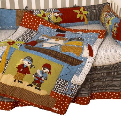 Cotton Tale Designs 海盗船图案婴儿床上用品4件套 132.51元特卖,原价 210元,包邮