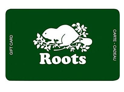 Roots 礼品卡买50元送10元!
