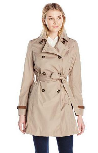 Via Spiga 女式双排扣修身风衣 43.32元起特卖(3色可选),原价 245元,包邮