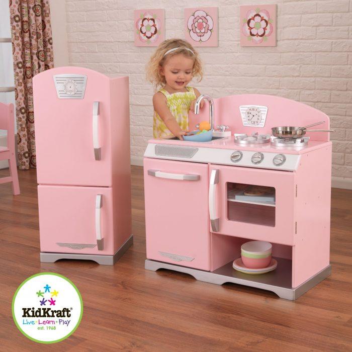 KidKraft 粉红儿童木质厨房玩具套装 169.99元特卖,原价 259元,包邮