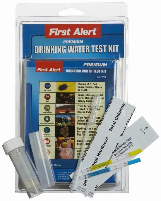 First Alert WT1 DIY 饮用水质测试套装7.3折 20.25元限时特卖!
