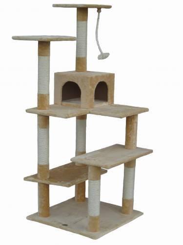 历史最低价!Go Pet Club F55 65英寸猫树公寓/猫爬架4.2折 93.38元限时特卖并包邮!