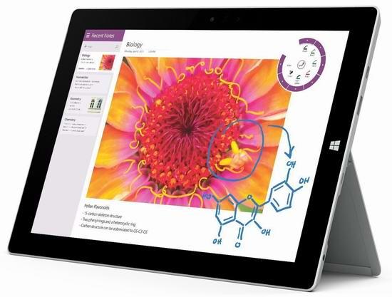 极致轻薄!完美取代笔记本电脑!Surface 3 10.8寸(64GB/128GB)平板电脑最高立省290元,仅售449.99-529.99元包邮!