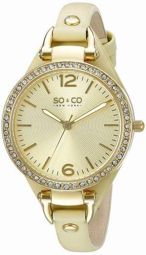 历史最低价!SO & CO New York 5061.3 女士时尚水晶腕表2.9折 25.79元限时清仓并包邮!