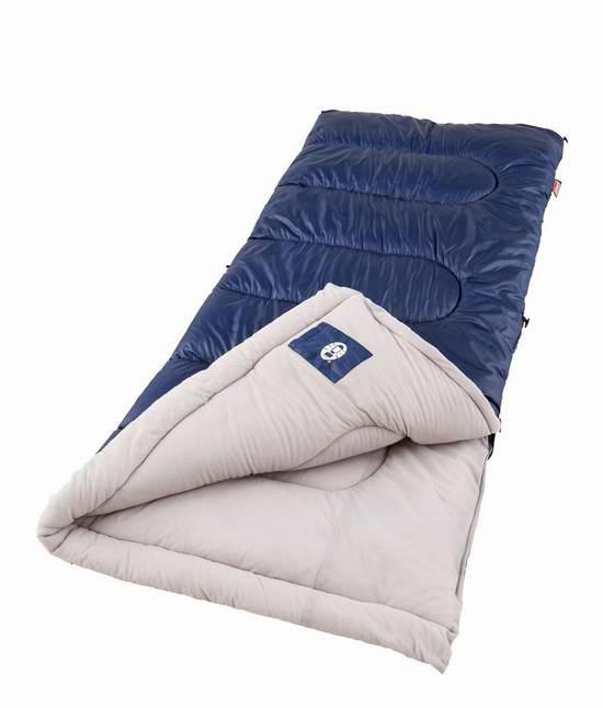 历史新低!Coleman Brazos 零下6度户外保暖睡袋 30.6元限时特卖并包邮!