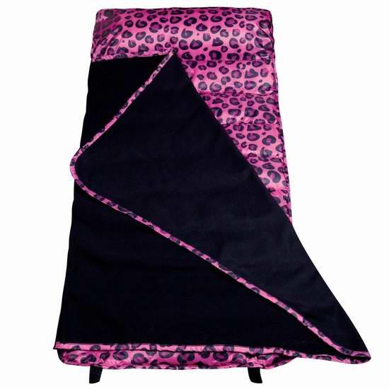 历史最低价!Wildkin 儿童粉红豹纹易洗午睡一体式床垫毯子枕头套装3.2折 29.22元限时特卖并包邮!