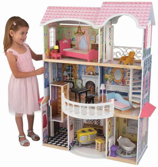 历史最低价!小公主的至爱!KidKraft Magnolia Mansion 梦幻童话玩具娃娃屋5.3折 172.36元限时特卖并包邮!