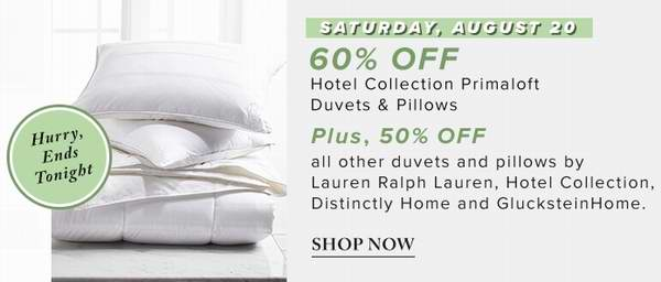 精选142款 Distinctly Home、Laura Ashley、Serta、Simmons、Sealy 等品牌羽绒被、仿羽绒被、枕头2.8折起限时特卖!