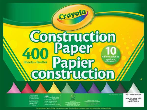 历史新低!Crayola 400页彩色手工纸6.4折 6.99元限时特卖!