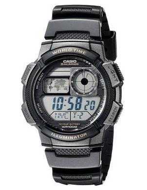 历史新低!Casio 卡西欧 AE-1000W-1AVDF 男式运动电子腕表5.9折 17.75元限时特卖!